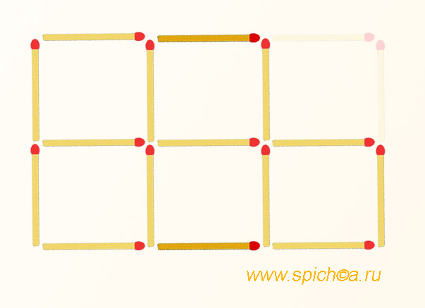 5 квадратов из 4 - ответ 2