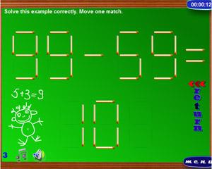 игра головоломки со спичками
