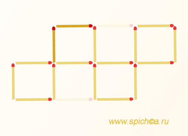 4 квадрата из 5 квадратов -  ответ