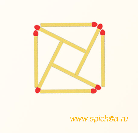 Два квадрата и 4 треугольника - решение
