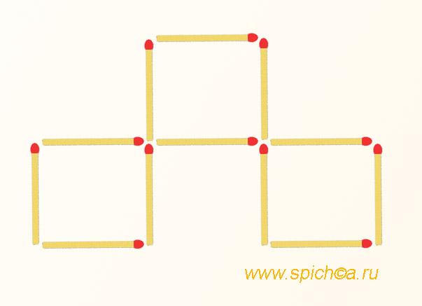 Из 3 квадратов четыре