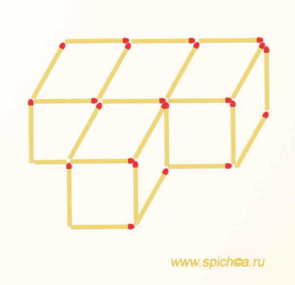 Как из четырех квадратов сделать один
