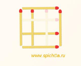 Из 9 квадратов три - решение