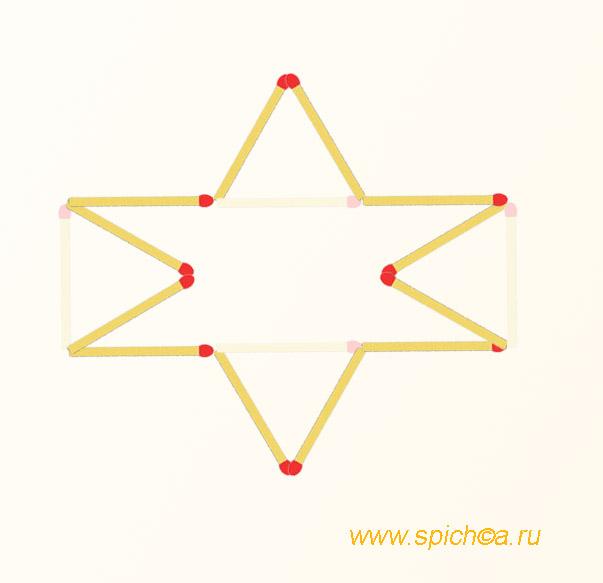 Фигура из 12 спичек площадью 3 - решение 2