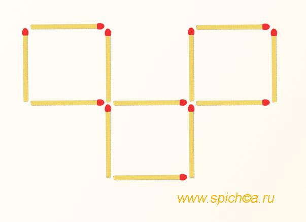 Фигура из 12 спичек площадью 3 - решение 1