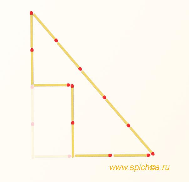 Фигура из 12 спичек площадью 4 - решение