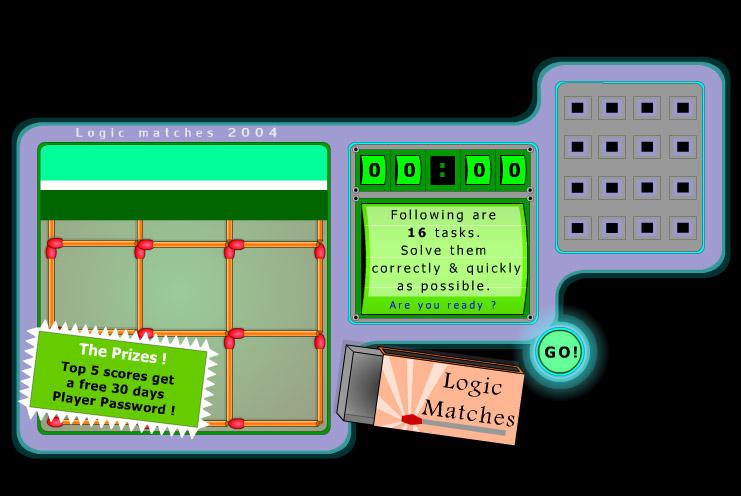 Играть онлайн Logic Matches квадраты начало