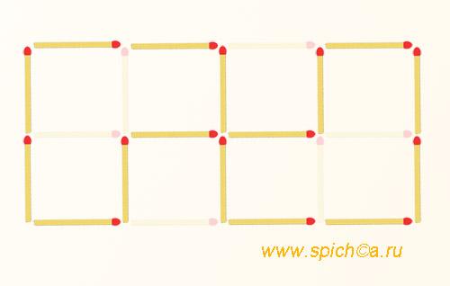 Из 8 квадратов два шестиугольника - решение 2