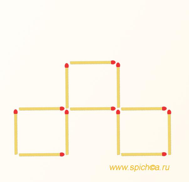Из 3 квадратов два