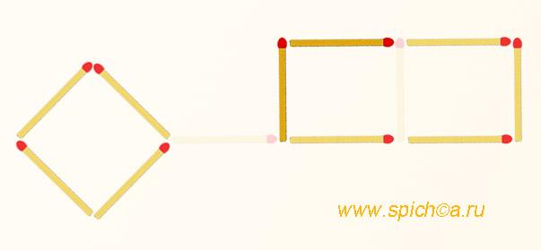 Из спичечного ключа 2 прямоугольника - решение