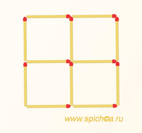 Из 4 квадратов 6 треугольников