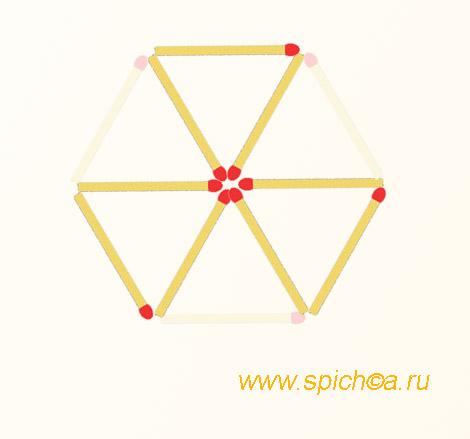 Из 6 треугольников три - ответ 1