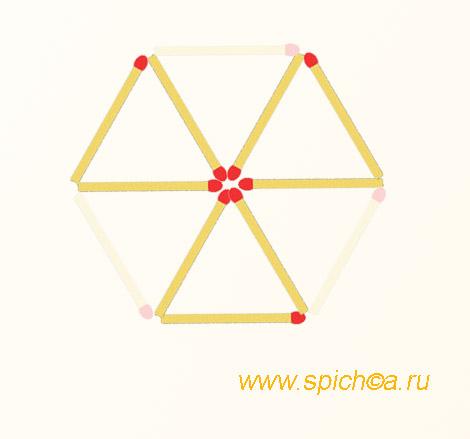 Из 6 треугольников три - ответ 2