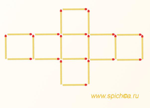 Из 7 квадратов 4-ре