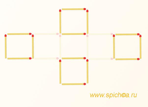 Из 7 квадратов 4-ре - решение