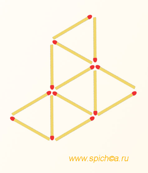 Оставить 3 треугольника