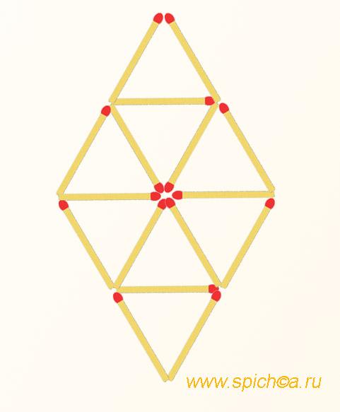 Оставить 4 треугольника