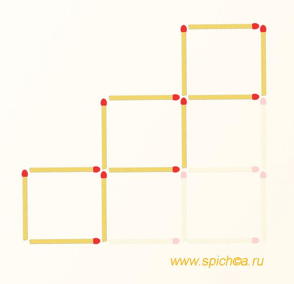 Из 6 квадратов три - решение 1