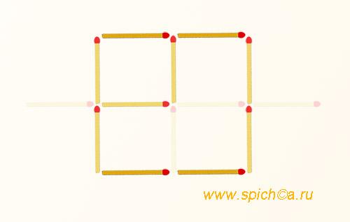 Из решетки 2 квадрата - решение