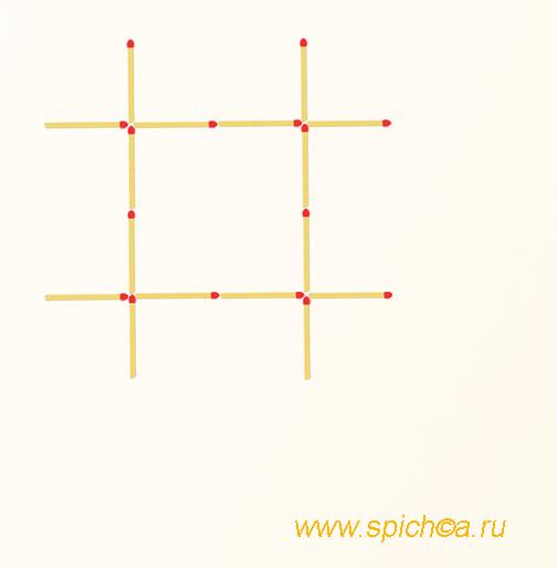 Из большой решетки 2 квадрата