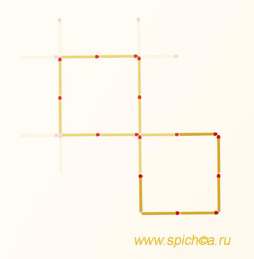 Из большой решетки 2 квадрата - решение