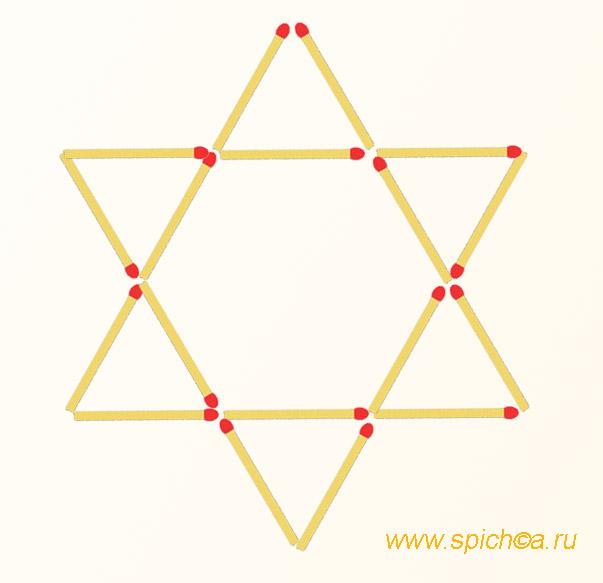 Из 6 треугольников 6-ть ромбов