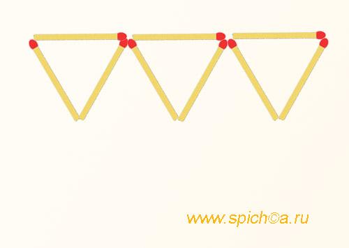 Из 3 треугольников 5