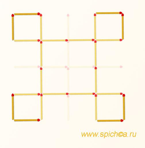 Из большой решетки 5 квадратов - решение