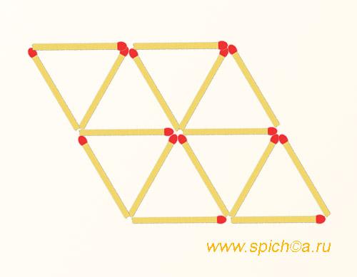 Из 8 треугольников 4