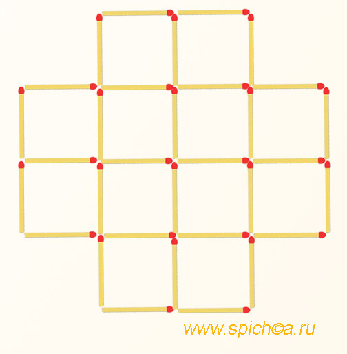 Головоломки со спичками как сделать квадрат