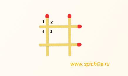 Из трех спичек 12 прямых углов
