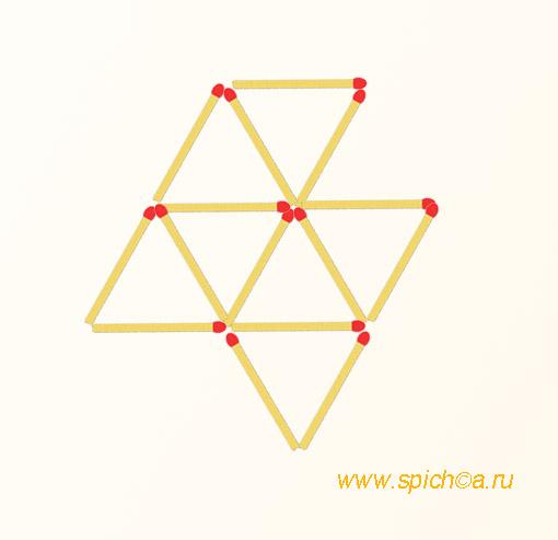 Из 7 треугольников четыре